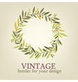 vintage branch with leaves for decoration greeting vector image