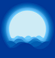 water wave design vector image