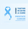 white banner with prostate cancer awareness vector image