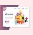 winners website landing page design vector image vector image