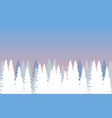 winter forest with firs in morning vector image