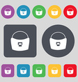 woman hand bag icon sign A set of 12 colored vector image