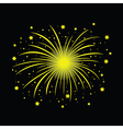 yellow firework vector image vector image