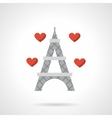Love France flat color icon vector image