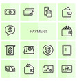 14 payment icons vector image vector image