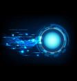 abstract technology blue circle light beam