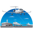 airport and airplanes vector image vector image