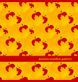 autumn seamless pattern with maple leaf and apples vector image vector image