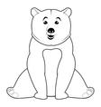 bear line icon vector image vector image