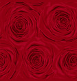 beautiful vintage seamless pattern with red roses vector image vector image
