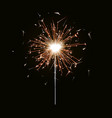 bengal fire new year sparkler candle isolated on vector image vector image