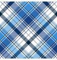 blue diagonal abstract plaid seamless pattern vector image vector image