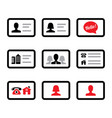 business card icon set - businessman vector image vector image