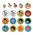 cartoon characters geeks in a flat style image vector image vector image