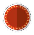 cinema lights label icon vector image