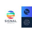 circle single logo signal for logo design vector image vector image