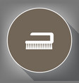 cleaning brush hygiene tool sign white vector image vector image