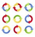 Colorful Arrows in Circles vector image vector image