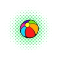 Colorful ball icon comics style vector image vector image