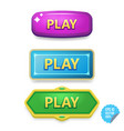Colorful buttons with play tittle bright