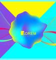 colorful fluid waves with gradients futuristic vector image