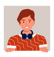 cute man or young guy cartoon character vector image