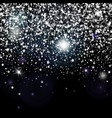 decorative poster with bright glitter stars vector image vector image