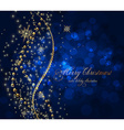 Elegant Christmas Background with Text Space vector image vector image