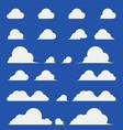 flat design elegant cumulus clouds vector image