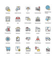 flat icons set logistics delivery vector image