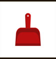flat red dustpan icon logo isolated on white vector image vector image