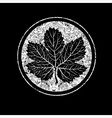 floral logo 11 grunge vector image vector image