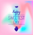 fruit sweet day logo simple style vector image