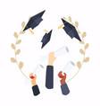 graduation cap education flat design modern vector image vector image