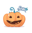 halloween of decorative orange pumpkin with vector image vector image