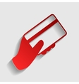 Hand holding a credit card vector image vector image