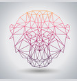 hipster polygonal animal monkey triangle animal vector image vector image