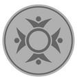 human collaboration silver coin vector image vector image