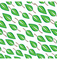infinite pattern with leaves vector image