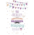 Inspirational invitation birthday card vector image vector image