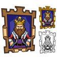 king cartoon portrait vector image vector image