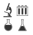 laboratory icon set flat vector image