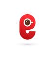 letter e coffee logo icon design template elements vector image