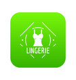 lingerie icon green vector image vector image