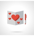 Love greeting flat color icon vector image vector image