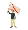 man protest icon cartoon style vector image vector image