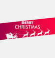 merry christmas santa claus in a sleigh with vector image