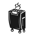 mobile air cleaner icon simple style vector image vector image