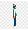 muslim man icon flat style vector image
