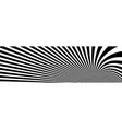 op art distorted perspective black and white vector image vector image